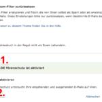 web-de E-Mail Spam-Filter Einstellungen 4