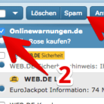 web-de E-Mail Spam-Filter Spam markieren