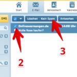 web-de E-Mail Spam-Filter bereinigen
