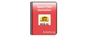 web-de Spam Filter bearbeiten pflegen Anleitung