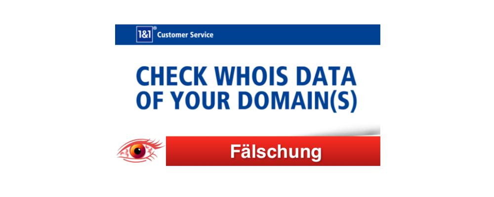 1und1 Phishing: Vorsicht gefälschte E-Mails des Webhosting-Anbieters
