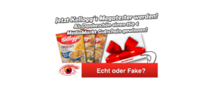 2018-11-01 Spam Mail Kelloggs Megatester Probierpaket