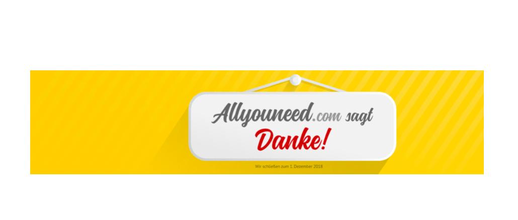2018-11-01 allyouneed-com undPostPay schliessen