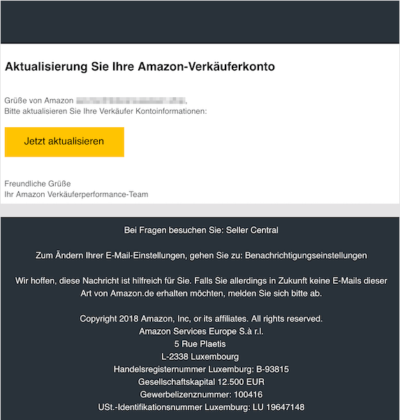 2018-11-05 Amazon Phishing