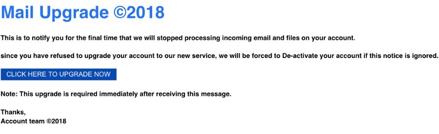2018-11-05 MSN Fake-Mail E-mail Upgrade