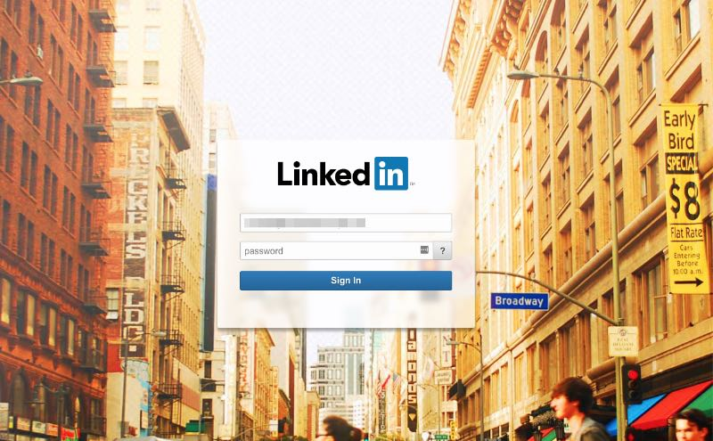 2018-11-06 Fake-Websiete LinkedIn Phishing Login