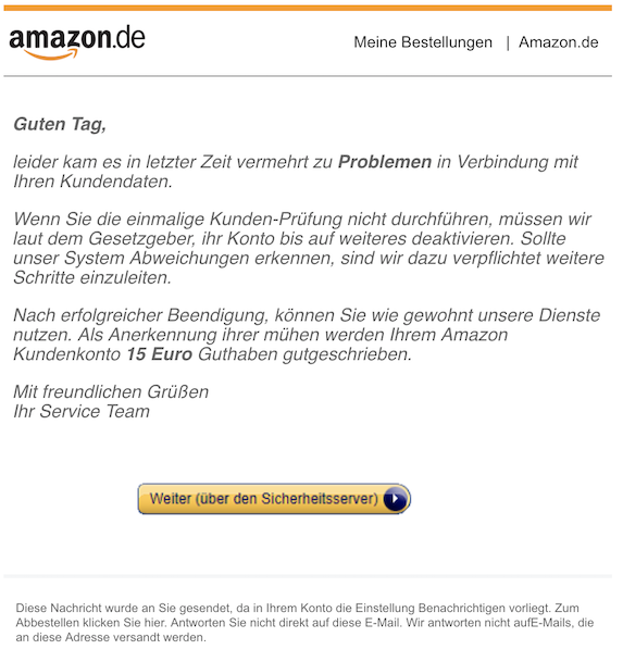 2018-11-07 Amazon Phishing
