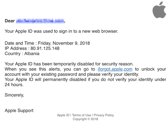 2018-11-10 Apple Phishing