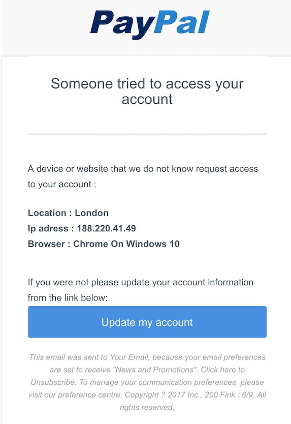 2018-11-13 PayPal Phishing