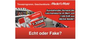 2018-11-18 Fake-Mail 1500 Euro Media Markt Geschenkkarte Gewinnspiel Datensammler