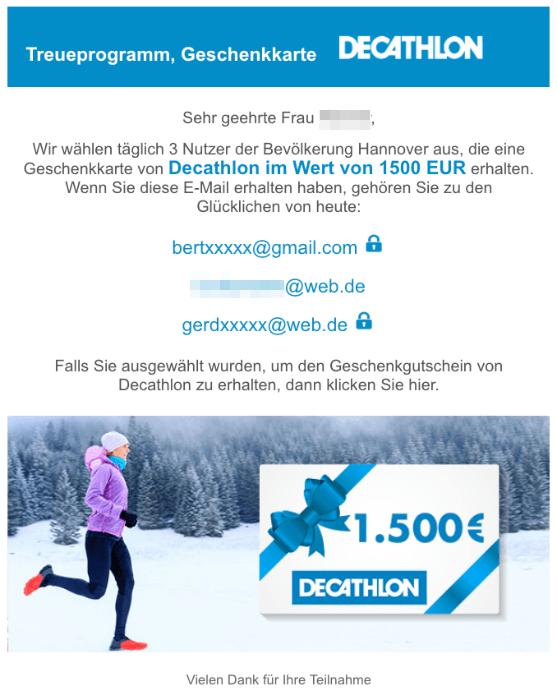 Decathlon Mail