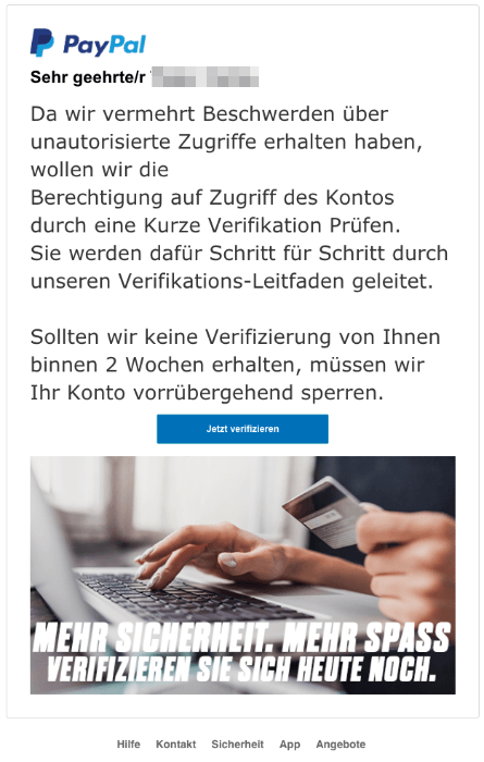 zahlung@paypal spam