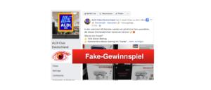 2018-12-03 Facebook Fanpage Fake-Gewinnspiel Aldi Kitchenaid