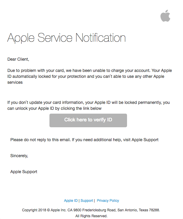 2018-12-05 Apple Phishing