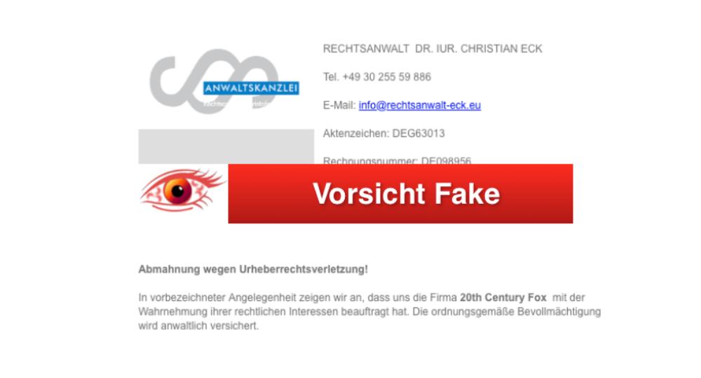 Rechtsanwalt Bach Abmahnung Wegen Unerlaubtem Filesharing Ist Betrug