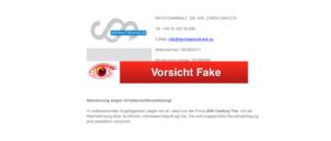 2018-12-05 Fake Abmahnung E-Mail RECHTSANWALT DR IUR CHRISTIAN ECK