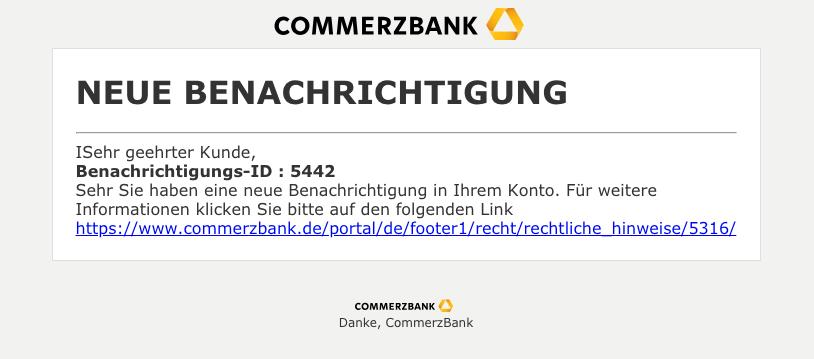 2018-12-11 Commerzbank Spam Mail NEUE BENACHRICHTIGUNG 5591