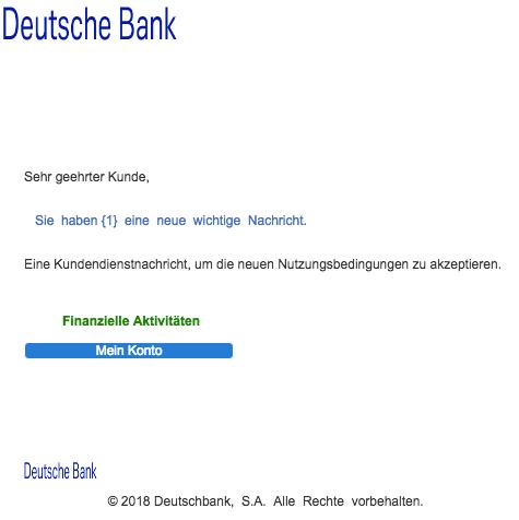2018-12-18 Deutsche Bank Spam-Mail Benachrichtigung