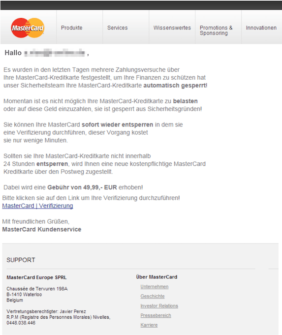2018-12-29 Mastercard Phishing