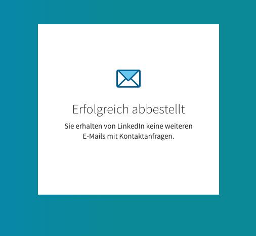 Abmeldung E-Mails von LinkedIn