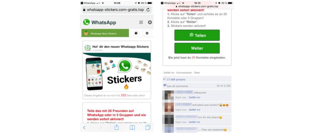 Kettenbrief WhatsApp Sticker