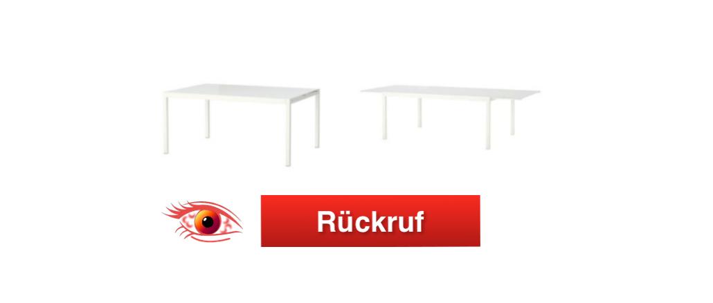 Rückruf IKEA Ausziehtisch_Titel