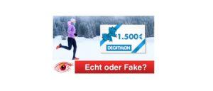 Spam-Mail 1500 Euro Einkaufsgutschein Decathlon