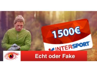 2018-12-05 Intersport 1500 Euro Geschenkkarte Spam-Mail