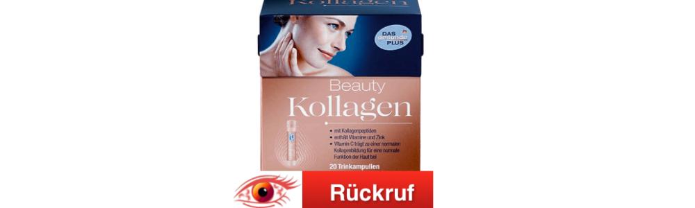 dm-drogerie markt GmbH: Rückruf Beauty Kollagen von DAS gesunde PLUS
