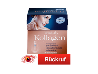 2018-12-06 Rückruf dm Drogerie-Markt DAS gesunde PLUS Beauty Kollagen