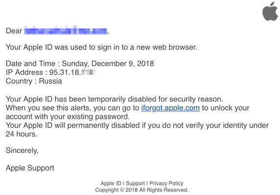 2018-12-10 Apple Phishing