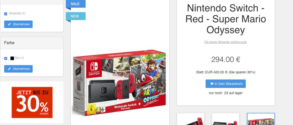 2018-12-10 Fakeshop-Verdacht Nintendo Billiger - Nintendo Switch
