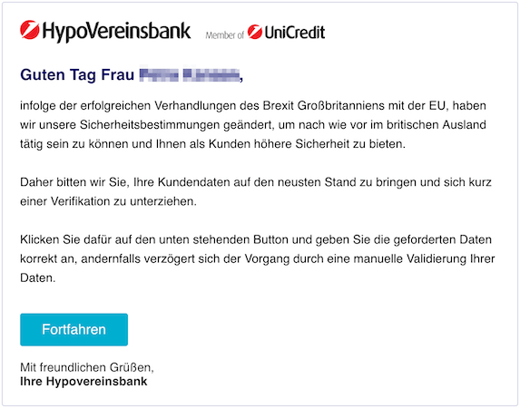 2018-12-12 HypoVereinsbank Phishing