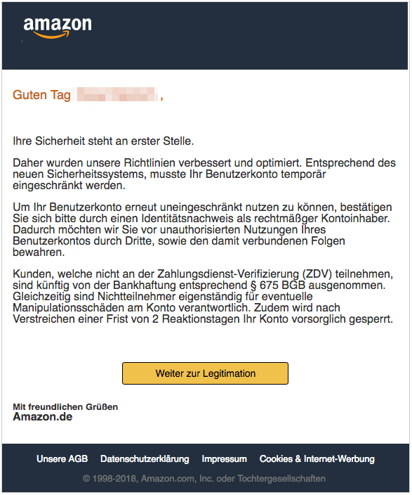 2018-12-18 Amazon Phishing