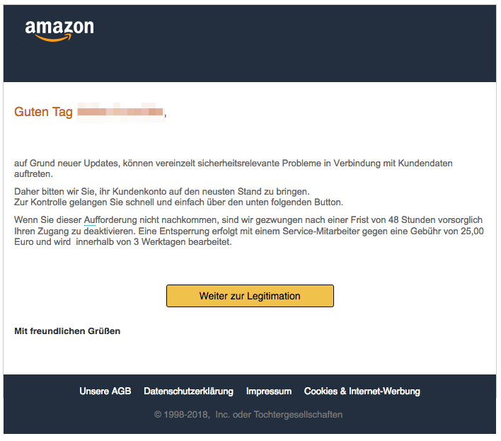 2018-12-19 Amazon Phishing 2