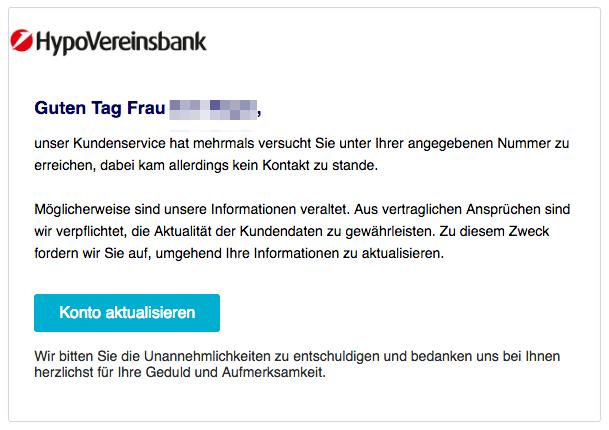 2018-12-21 HVB Hypovereinsbank Phishing