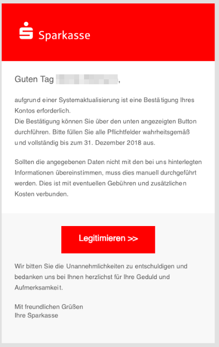 2018-12-28 Sparkasse Spam-Mail Einschraenkung Online-Banking