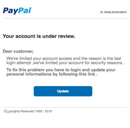 2018-12-29 Paypal Phishing