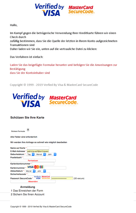 2019-01-03 Phishing Mastercard Visacard