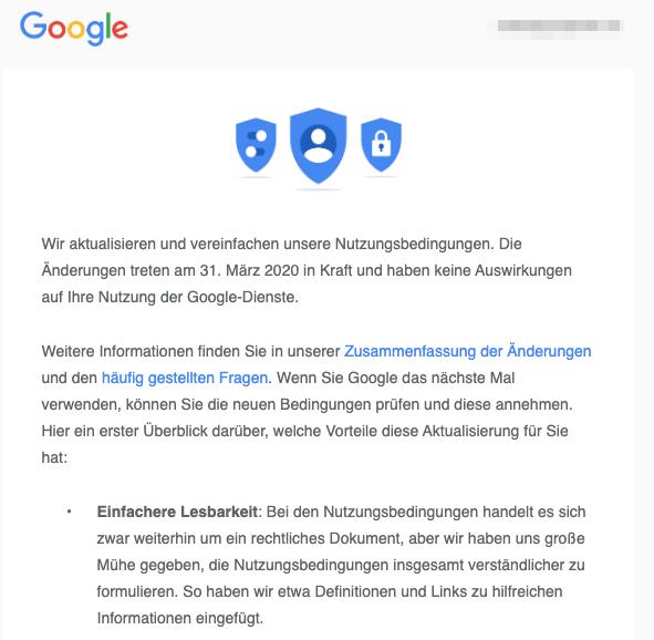 2020-02-21 Google E-Mail Aktualisierung Nutzungsbedingungen