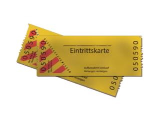 Eintrittskarte Ticket Symbolbild