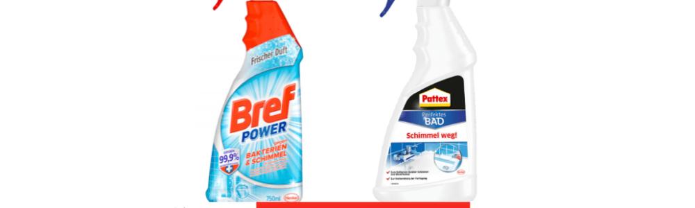 Henkel ruft zurück: BREF POWER und PATTEX Schimmelentferner