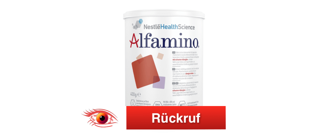 Rückruf Nestle Alfamino