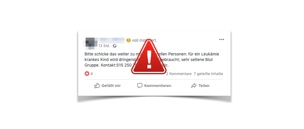 WhatsApp Facebook Kind Leukämie Aufruf Spender gesucht