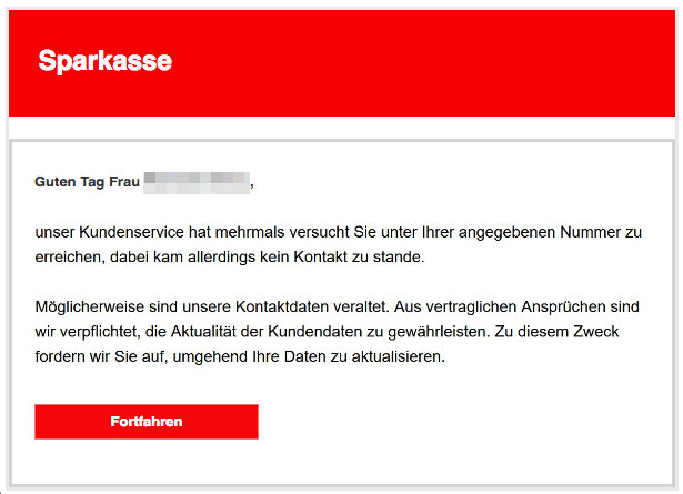 2019-01-04 Phishing Sparkasse