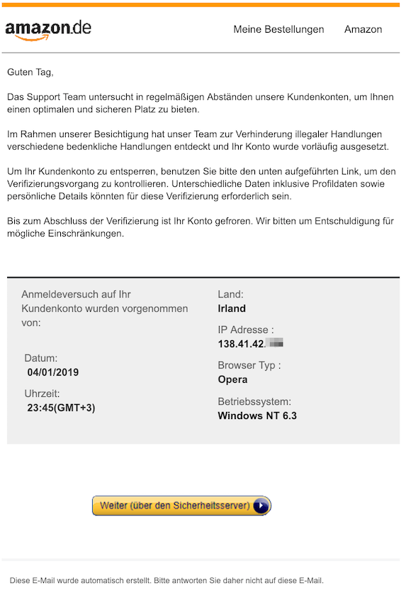 2019-01-05 Amazon Phishing