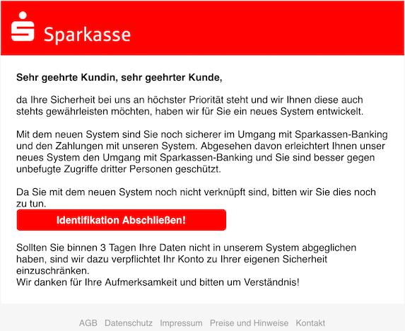 2019-01-05 Sparkasse Phishing