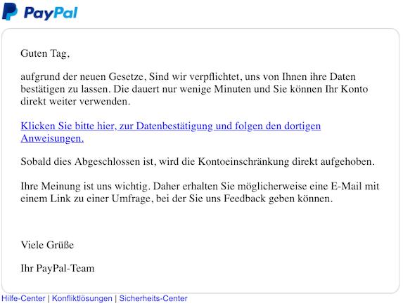 2019-01-06 PayPal Phishing