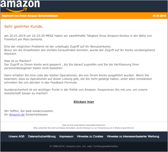 2019-01-22 Amazon Phishing