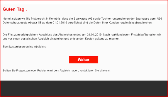 2019-01-22 Sparkasse Phishing